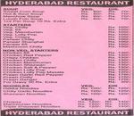 Hyderabad Spice Menu