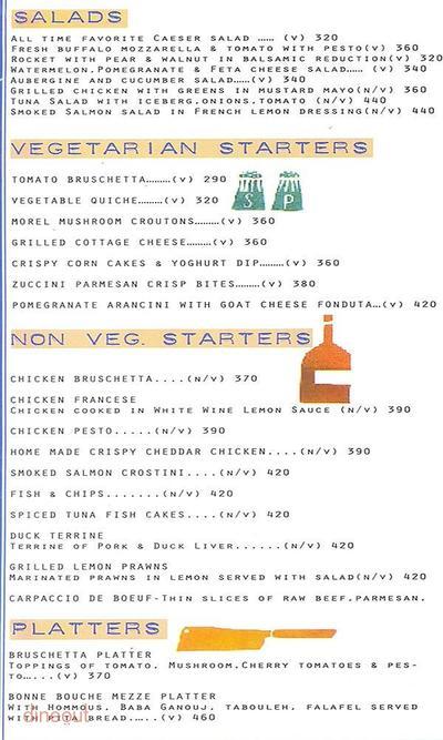 Bonne Bouche Kitchen & Bar Menu