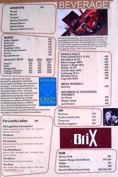 Brix Street Bar Rock Cafe Menu 7
