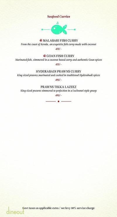 Zaheer Khan's Dine Fine Menu 8
