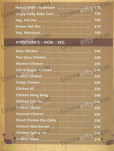 Yashodhan Garden Family Restaurant Menu 8
