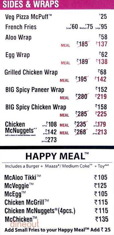 McDonald's Menu 4