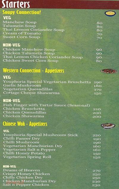 Youphoria Restaurant Bar & Lounge Menu 28