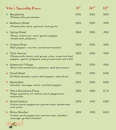 Pizza Vito Menu 3