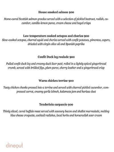 Olive Bar & Kitchen Menu 1