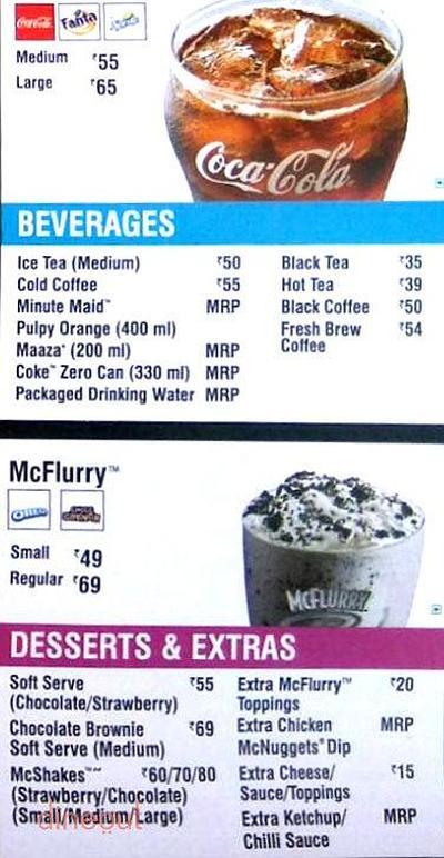 McDonald's Menu 5