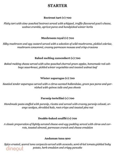 Olive Bar & Kitchen Menu