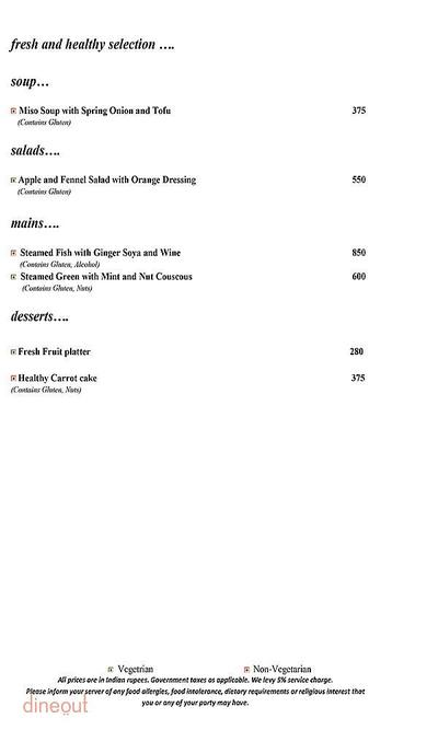 Mosaic - Crowne Plaza Menu 11