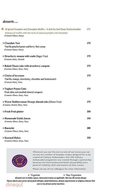 Mosaic - Crowne Plaza Menu 9
