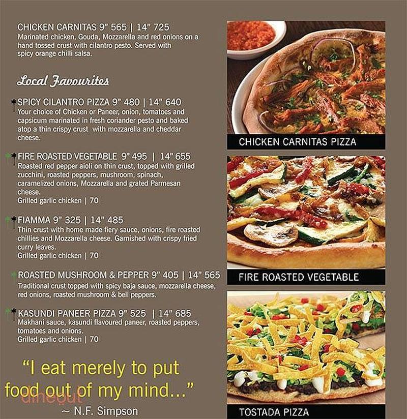 California Pizza Kitchen Menu menu of california pizza kitchen, indiranagar, bangalore | dineout