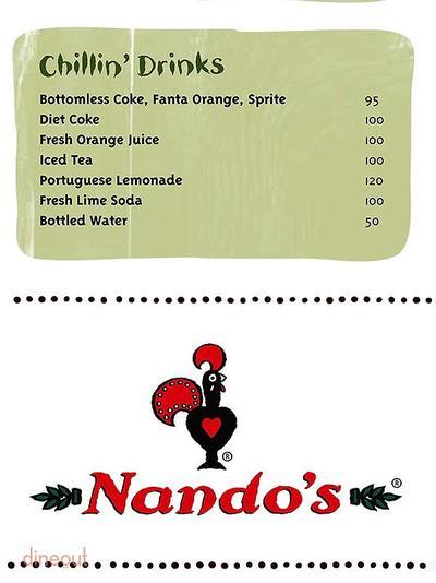 Nando's Menu 10