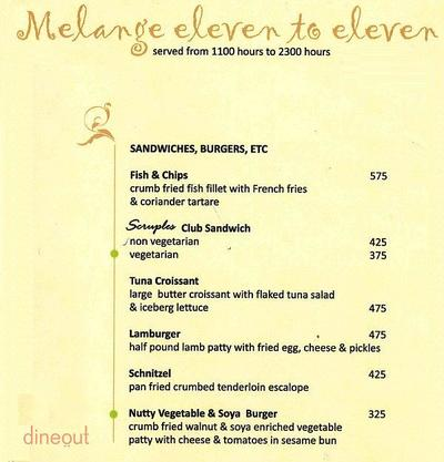 Melange - The Pllazio Hotel Menu 20
