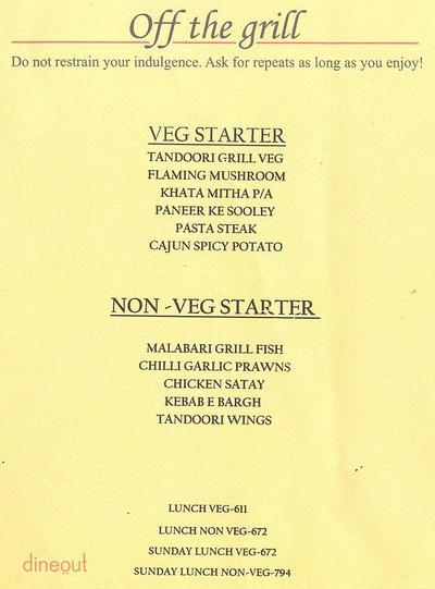 Barbeque Nation Menu
